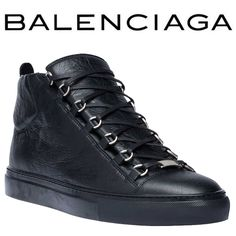 Lambskin sneakers with tone-on-tone laces and rubber sole  Tone-on-tone laces   Mat palladium metal finishing   Metal tab with guilloche design at front   Quilted section at back   Tone-on-tone rubber outer sole   Balenciaga logo on the tongue   10 mm arch   Made in Italy   Please note this item runs large, we suggest you take a full size down for a more appropriate fit.