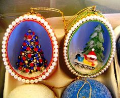 Vintage egg ornament tutorial. by ohsohappytogether, via Flickr