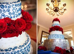 Great wedding cake for Fourth of July or Memorial Day wedding