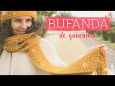 Bufanda de ganchillo fácil   Easy crochet scarf - YouTube