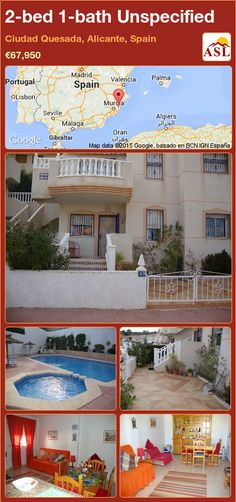 Unspecified for Sale in Ciudad Quesada, Alicante, Spain with 2 bedrooms, 1 bathroom - A Spanish Life Valencia, Portugal, Fitted Wardrobes, Alicante Spain, Furnished Apartment, Double Bedroom, Murcia, Kitchen Styling, Ground Floor