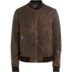 Dolce & Gabbana Leather Jacket (2,855 CAD) ❤ liked on Polyvore featuring men's fashion, men's clothing, men's outerwear, men's jackets, brown, mens brown jacket, mens brown leather jacket and mens leather jackets
