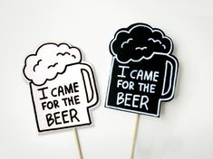 Photobooth Props Wedding Party Signs I Came For by MisterMustache