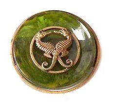 French bakelite seahorse pin 1940