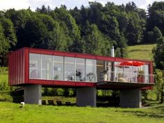 Container House - maison-container-pilotis - Who Else Wants Simple Step-By-Step Plans To Design And Build A Container Home From Scratch? Shipping Container Buildings, Shipping Container Home Designs, Container House Design, Shipping Containers, Cargo Container Homes, Building A Container Home, Container House Plans, Container Cabin, Container Store