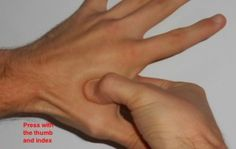 Sinus & Migraine Pressure Points for relief. press ess the point with your thumb and index finger.
