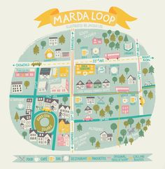 Marra Loop map - Calgary - Jacqui Lee Illustration