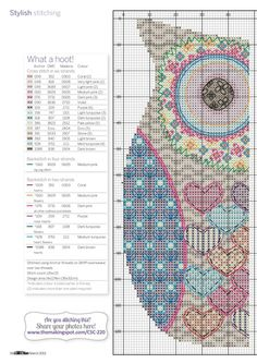 What a Hoot 2. This is actually a cross stitch pattern, but how cute would it be as a baby blanket or a rug.