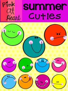 Summer Cuties from kac2877 from kac2877 on TeachersNotebook.com (13 pages)  - 11 Bright and Fun SUMMER CUTIES!