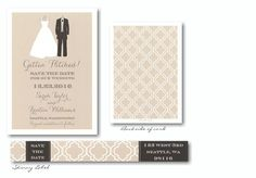 Bride and Groom To Be Save-the-Date Card