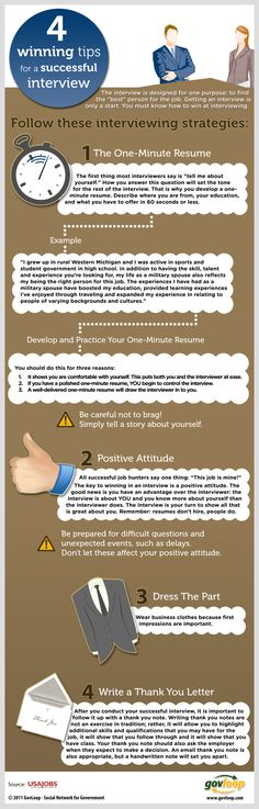 4 winning tips for a successful interview #infographic