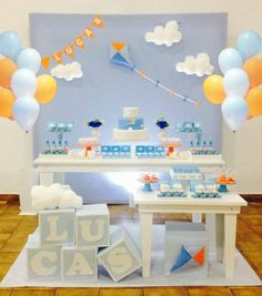 15 ideas for choosing the baby shower theme - Dekoration Ideen Babyshower Party, Baby Party, Baby Boy 1st Birthday, 1st Birthday Parties, Baby Shower Themes, Baby Boy Shower, Birthday Balloon Decorations, Birthday Photos, First Birthdays