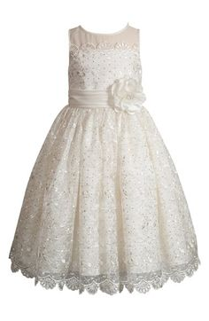 Free shipping and returns on Kleinfeld Pink 'Alexandra' Embroidered Dress (Little Girls & Big Girls) at Nordstrom.com. Kleinfeld—renowned bridal fashion destination—has designed a new special occasion line to make little girls look and feel beautiful on your big day. She'll nearly steal the spotlight in this exquisite dress crafted with a an illusion yoke, a sparkly, embroidered overlay and delicate, scalloped lace.