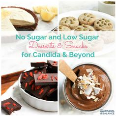 Low Sugar and No Sugar Desserts & Snacks to Combat Candida