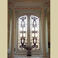 wrought iron window covering