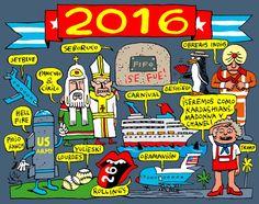 #Cuba: Una mirada al #2016 con #humor  Caricaturas de #AlenLauzán