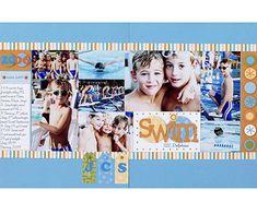 swim layout. double spread