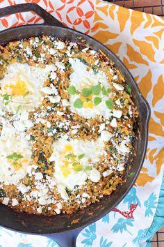 California Sweet Potato Hash {Greek Style} w/ Feta Cheese and Eggs
