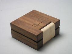 Coin Box In Walnut