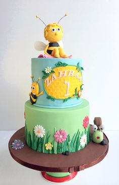 Maya the Bee themed Birthday Cake