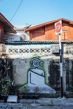 Street art in Chiang Mai | Paper Planes #travel #thailand #chiangmai #streetart