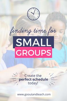 Small group instruction is an important part of providing our students differentiated instruction. Create the perfect schedule that allows you time for math AND reading small group instruction! Stop asking yourself where all the time went, by creating a new schedule today!