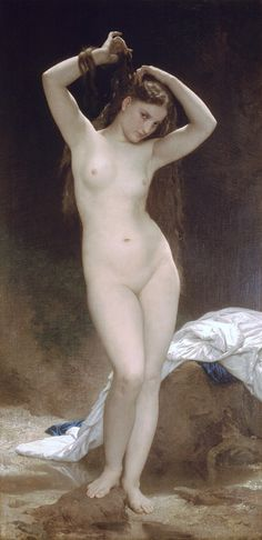William Adolphe Bouguereau (William Bouguereau): Baigneuse