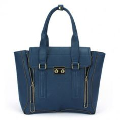 17f3a5ece806 Fashion Zip Satchel in the perfect shade of blue for fall- I die! Michael  Kors ...