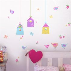 @rosenberryrooms is offering $20 OFF your purchase! Share the news and save!  Bird Houses Wall Decals #rosenberryrooms