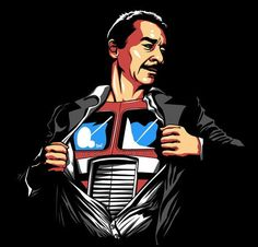 Peter Cullen and his super alter-ego Optimus Prime. #Transformers