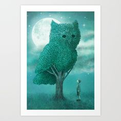 Buy The Night Gardener - Cover Art Print by Eric Fan. Worldwide shipping available at Society6.com. Just one of millions of high quality products available.