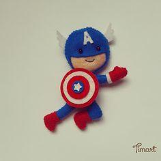 Timart: Super Heróis. Capitão América.