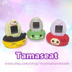 Tamaseat / Tamagotchi cradle / Tamacradle / Tamagotchi stand by Muninahandmade on Etsy