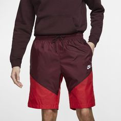 Nike Sportswear Windrunner Men's Track Shorts - Purple Nike Windrunner, Windrunner Jacket, Nike Outfits, White Style, Upper Body, Nike Sportswear, Bermuda Shorts, Track, Purple