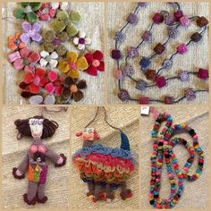 Our recent winter Sophie Digard delivery is possibly even more beautiful than we had imagined it might be. We placed our order month. Art Au Crochet, Freeform Crochet, Knit Crochet, Art Textile, Textile Jewelry, Fabric Jewelry, Jewellery, Embroidery Patterns, Knitting Patterns