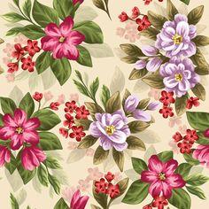 Vintage flower patterns vector graphics 02