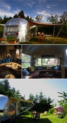 Belrepayre Airstream & Retro campsite. #vintage #caravan #France