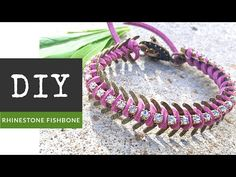 How To Make A Rhinestone Fishbone Chain Bracelet With The Bead Place - YouTube