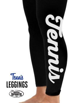 Check out these adorable tennis script leggings!