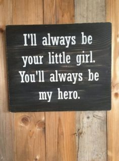 gifts for dad Daddys Little Girl Wood Sign - Fathers Day Gift - Gift for Dad - Dads Hero Sign - Gift from Daught Diy Christmas Gifts For Dad, Diy Gifts For Dad, Wedding Gifts For Parents, Wedding Day Gifts, Diy Father's Day Gifts, Father's Day Diy, Presents For Dad, Daddy Gifts, Parent Gifts