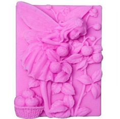"""Allforhome 3"""" Fairy Flowers Angel Craft Art Silicone Soap mold Craft Moulds DIY"""