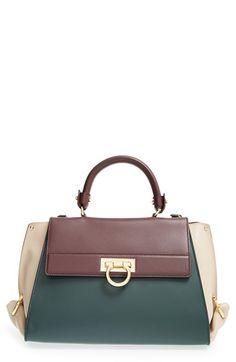 Salvatore Ferragamo 'Sofia' Colorblock Leather Satchel available at #Nordstrom