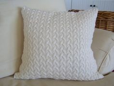 cozy sweater knit pillow
