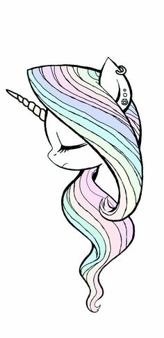 Imagen de unicorn, wallpaper, and cute Unicorn Drawing, Unicorn Art, Cute Unicorn, Rainbow Unicorn, Drawing Drawing, Drawing Tips, Beautiful Unicorn, How To Draw Unicorn, Unicorn Painting