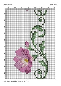 This Pin was discovered by Hul Crewel Embroidery, Cross Stitch Embroidery, Embroidery Patterns, Cross Stitch Charts, Cross Stitch Designs, Beading Patterns, Cross Stitch Patterns, Graph Design, Flower Pillow