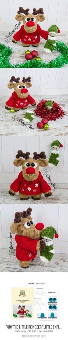 "Rudy the Little Reindeer ""Little Explorer Series"" amigurumi pattern"