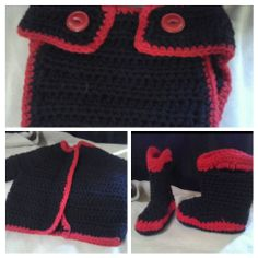Baby Firefighter Set by MeeMeesBoutique on Etsy, $23.00