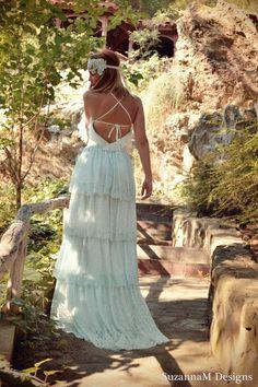 deaf289b20b6b Lace Bohemian Wedding Dress Boho Bridal Dress by SuzannaMDesigns, €680.00  Handmade Wedding Dresses,