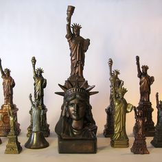 ∷ Variations on a Theme ∷  Collection of Vintage souvenir Statues Of Liberty