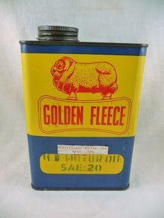 Golden Fleece service station 1 Quart oil can